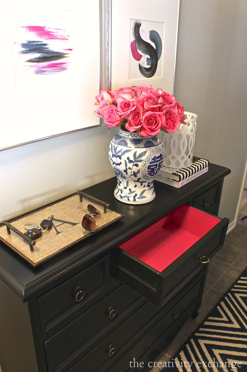 Paint Inside Of Drawers Hot Pink For A Fun Pop Color