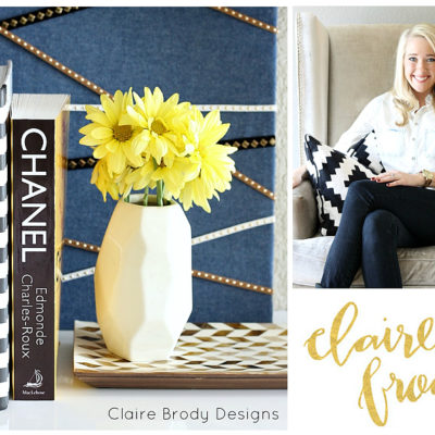 Quick & Chic DIY Fabric Covered Bulletin Board {Claire Brody Designs}