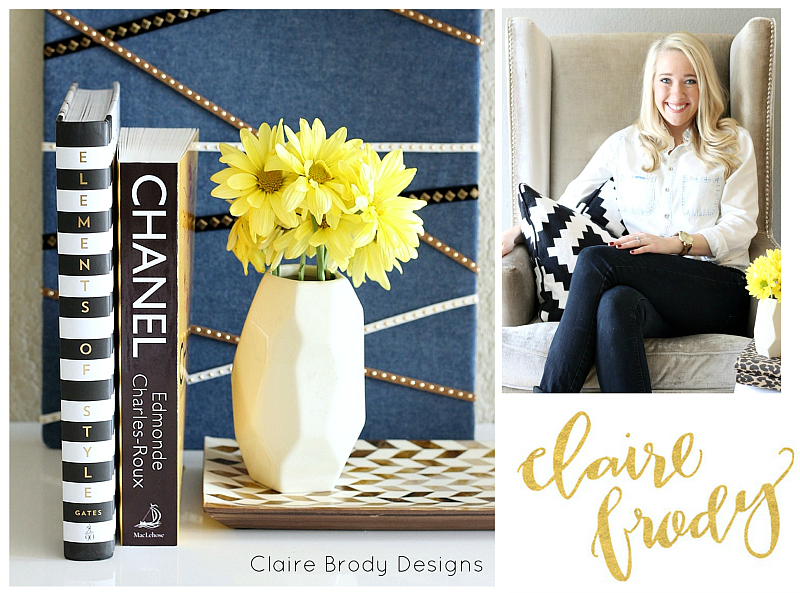 Quick and chic DIY bulletin board. Claire Cumbie for The Creativity Exchange