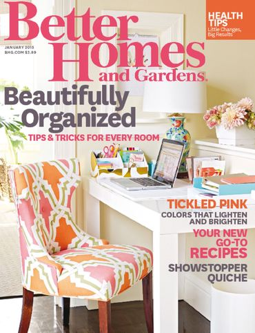 Attractive January 2015 Better Homes And Gardens Magazine Cover.