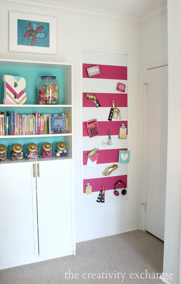 DIY Large Magnetic Board Tutorial for Painting or Fabric Covered.