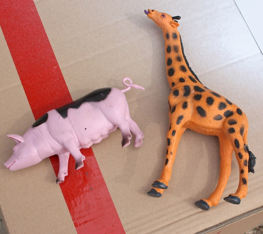 How to spray paint plastic toy animals and turn into magnets.