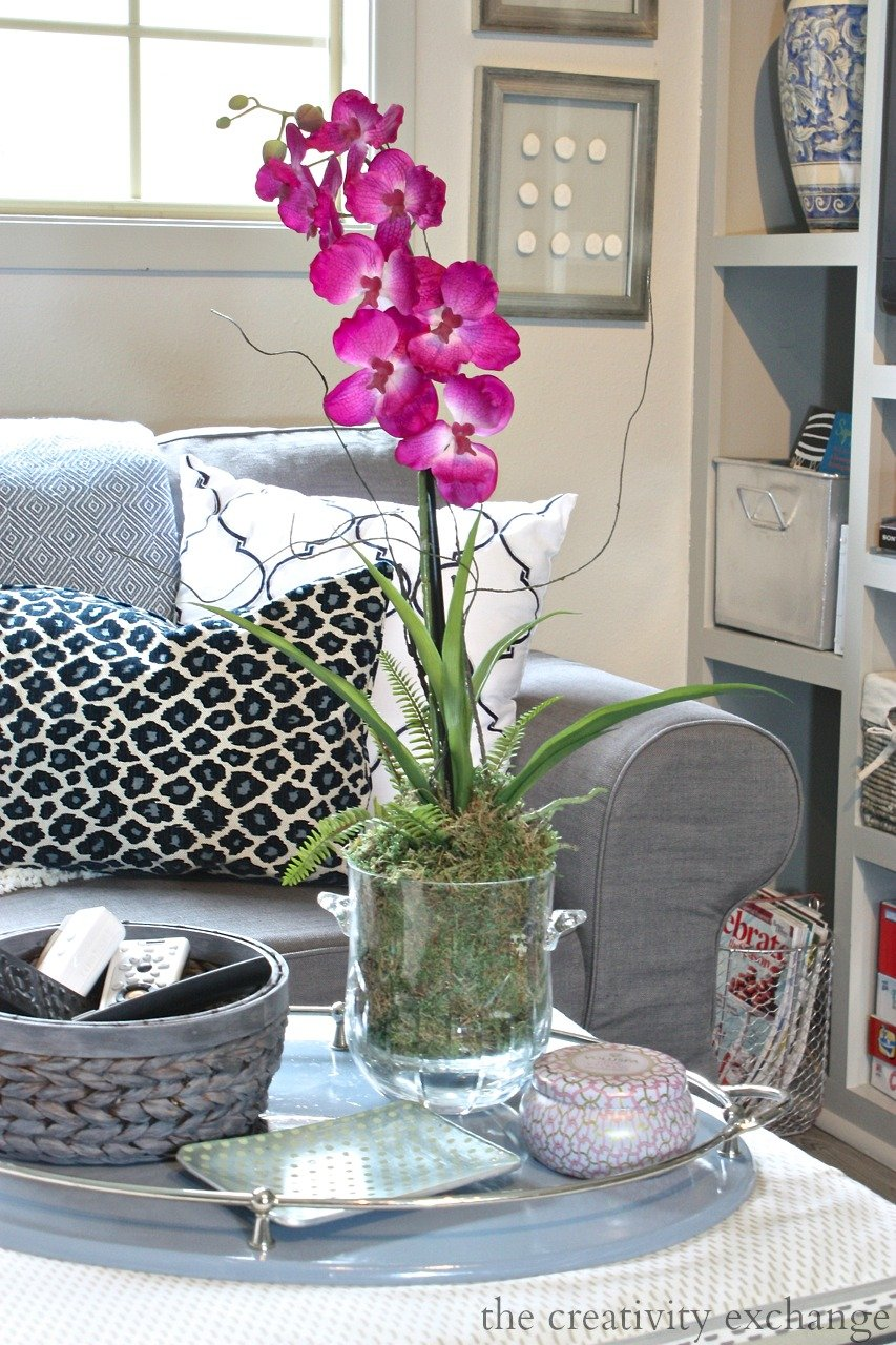 Quick trick for repotting fake orchids to look real.