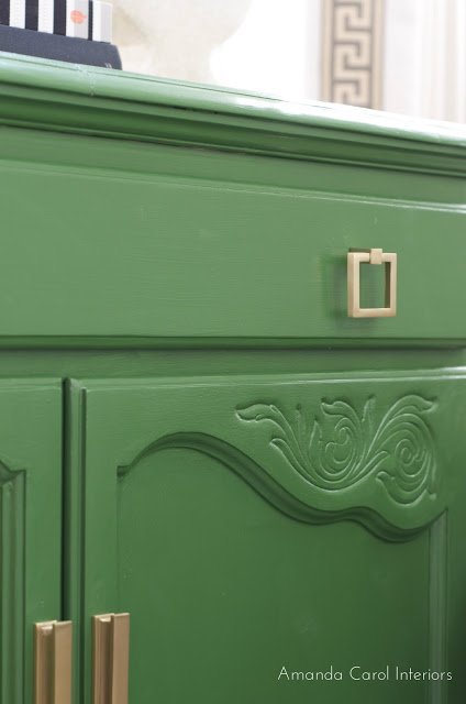 Chest painted in Pine Scent from Behr. 16 of the most versatile paint colors for furniture.