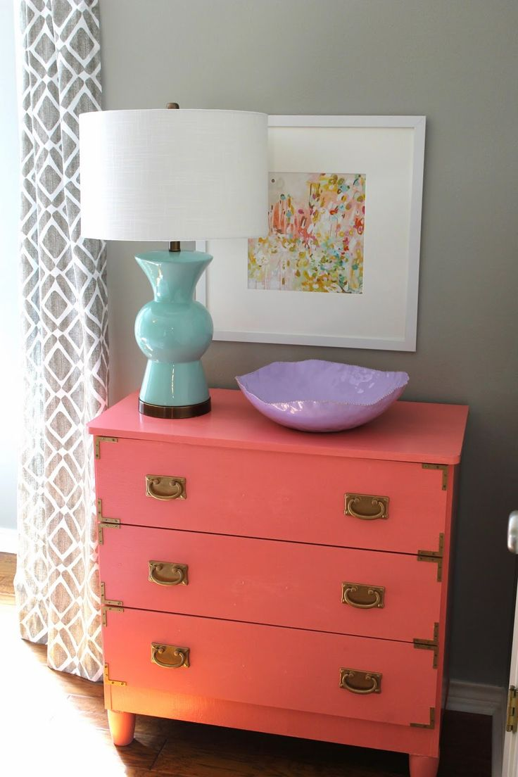 Dresser Painted with Sherwin Williams Dishy Coral