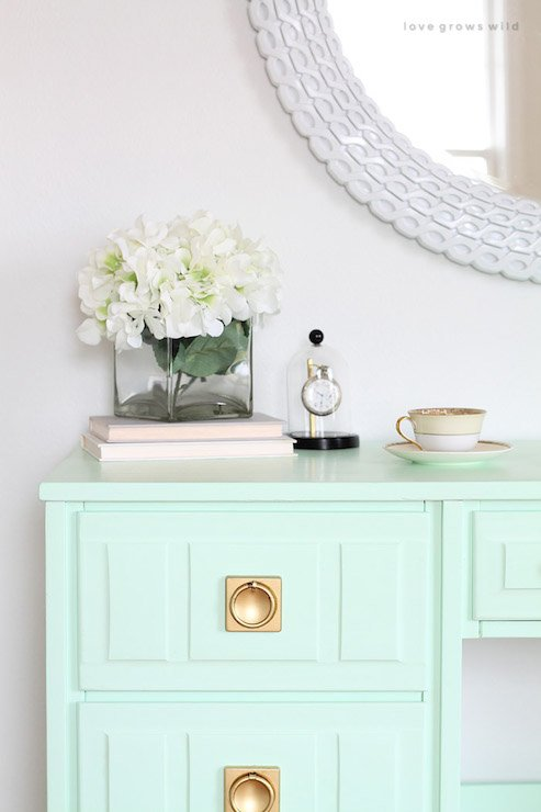 16 of the best paint colors for painting furniture for Mint green furniture paint