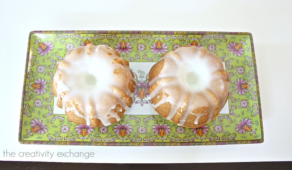 Lemon Blossom mini bundt cakes.
