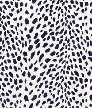 Robert Allen Leopard Path Navy Fabric