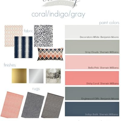Coral/Indigo/Gray Layered Mix {Moody Monday}