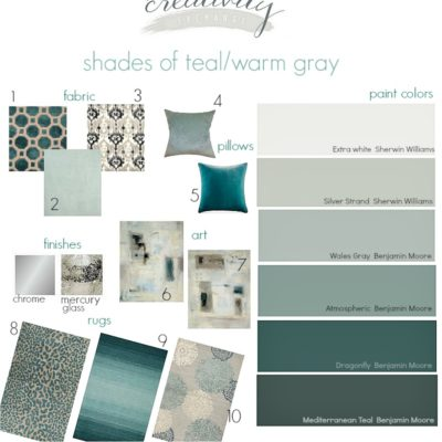 Shades of Teal and Warm Gray {Moody Monday #2}