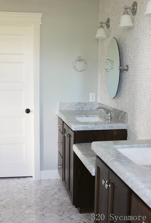 Wall Color is Silver Strand from Sherwin Williams