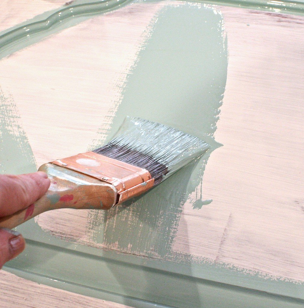 Tips for how to paint with oil based enamel on high traffic furniture pieces. The Creativity Exchange