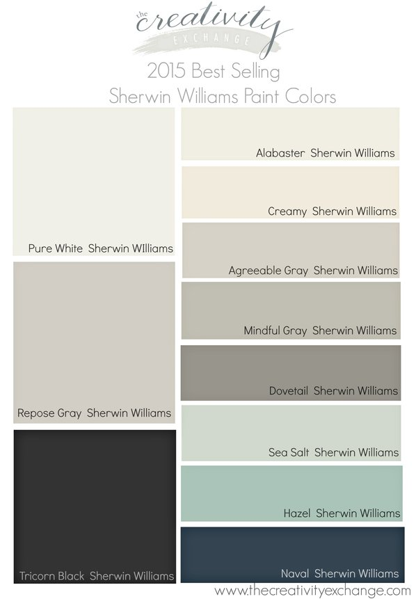 2015 best selling and most popular paint colors sherwin williams and benjamin moore Best interior white paint