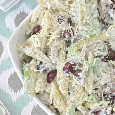 Chicken Tarragon Pasta Salad {Central Market Knock Off}