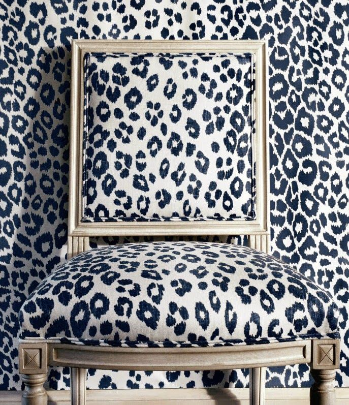 Iconic leopard print fabric and paper from Schumacher.