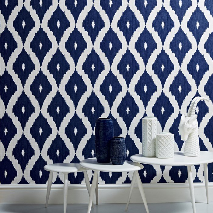 Kelly's Ikat Wallpaper from Graham Brown