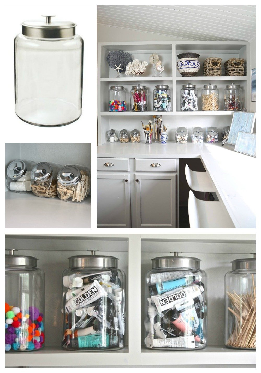 Organizing with candy jars and large canisters