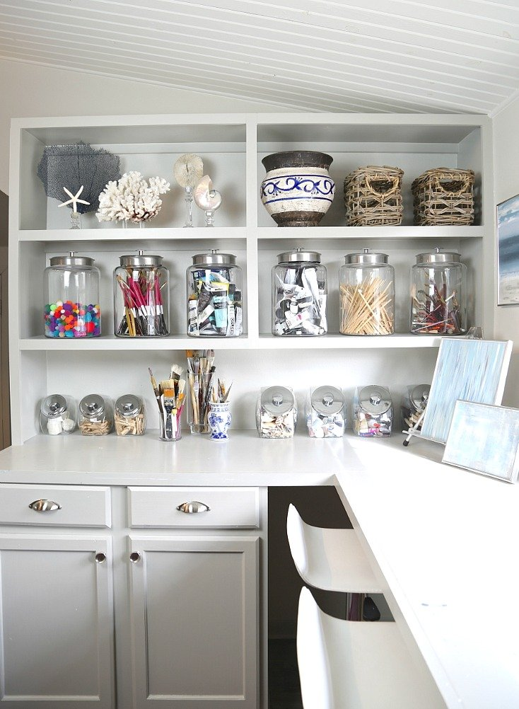 Organizing with cookie and candy jars