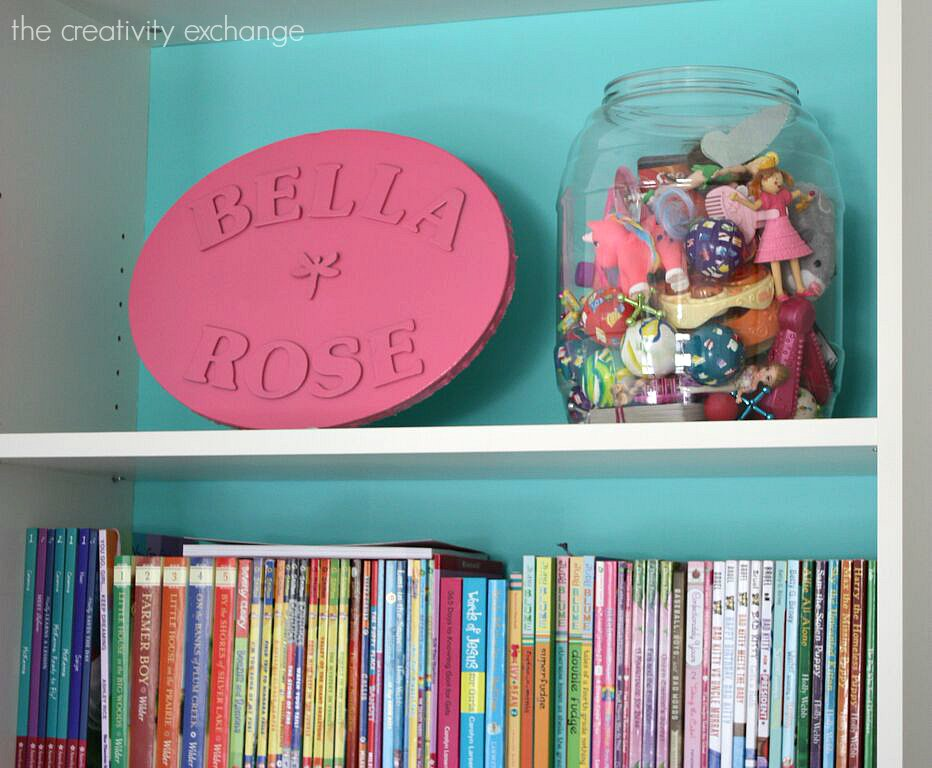 Recycle large tubs of pretzels for organizing kids little stuff. The Creativity Exchange