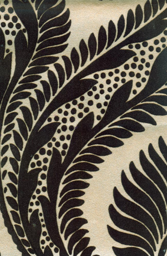 Velvet flocked wallpaper. Wallpaper Crush