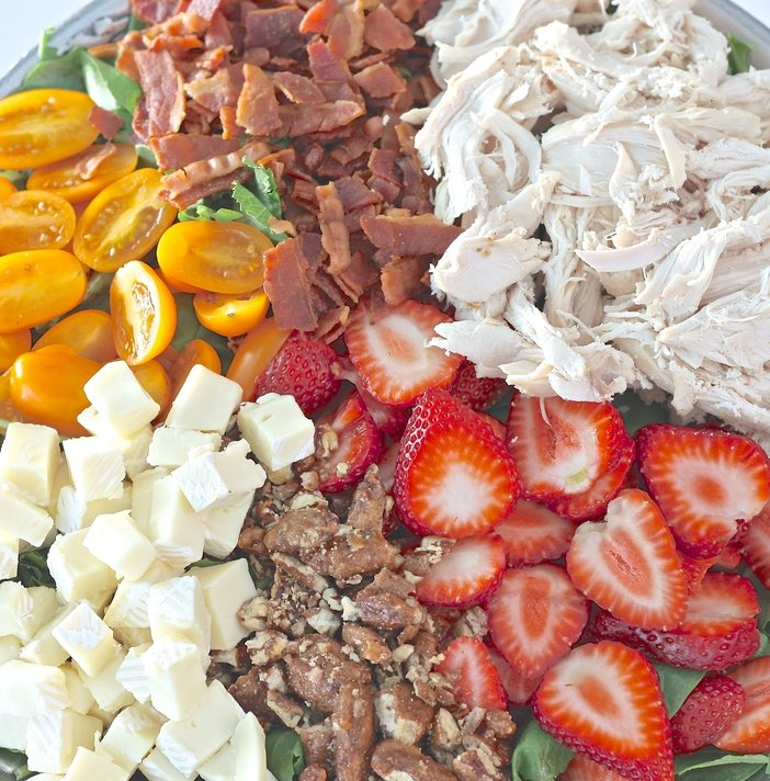 La Jolla Brie and Chicken Salad Recipe with Sesame Ginger Dressing.  The Creativity Exchange