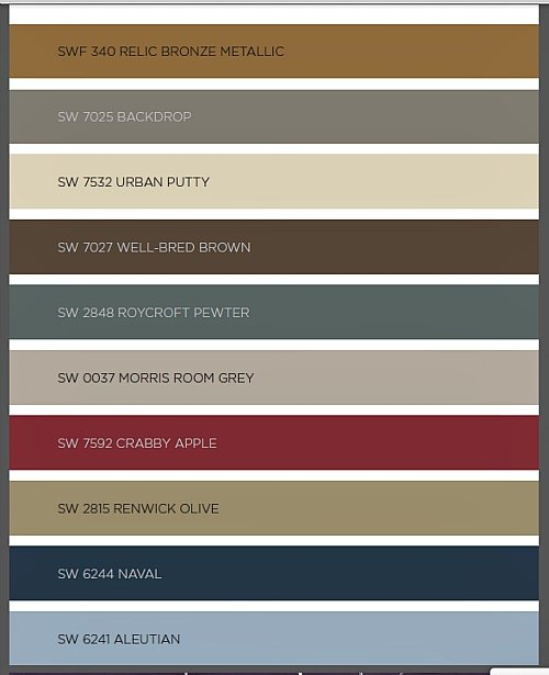 2016 Paint Colo... Colors For 2016