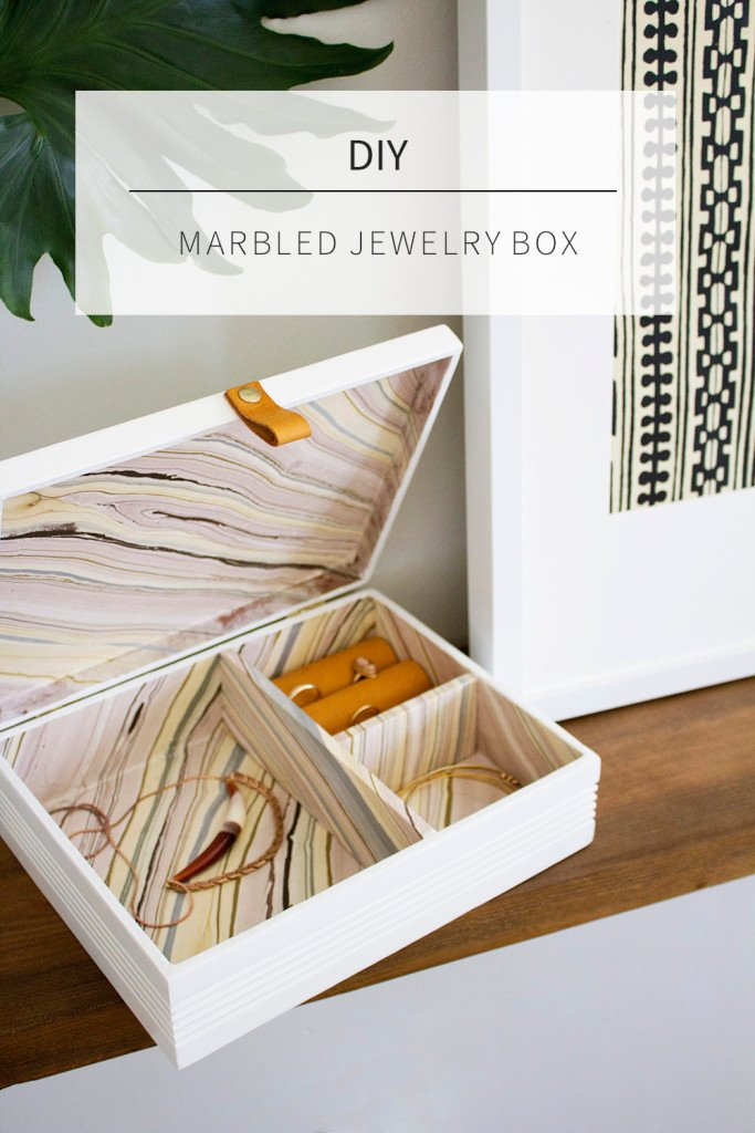 Creative projects using marbelized papers.