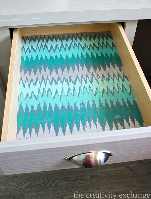 Turn hand dyed and marbelized papers into gorgeous drawer liners.