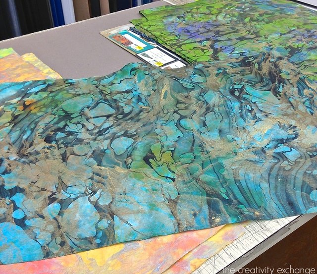 inexpensive and dyed and marbleized papers that are perfect for framing. The Creativity Exchange