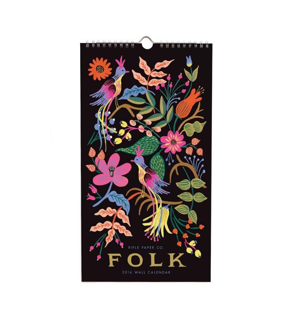 2016 Folk Rifle Paper Company Calendar