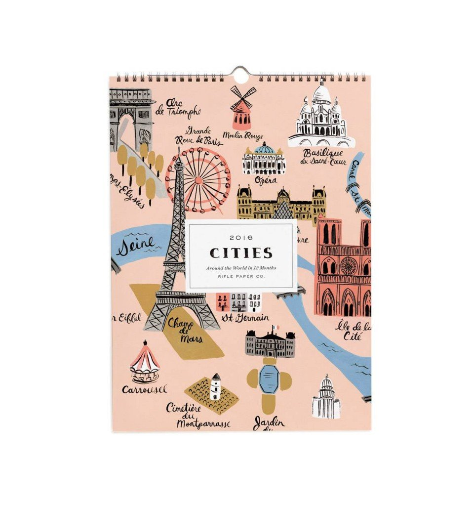 2016 Rifle Paper Company Cities Around the World Calendar.