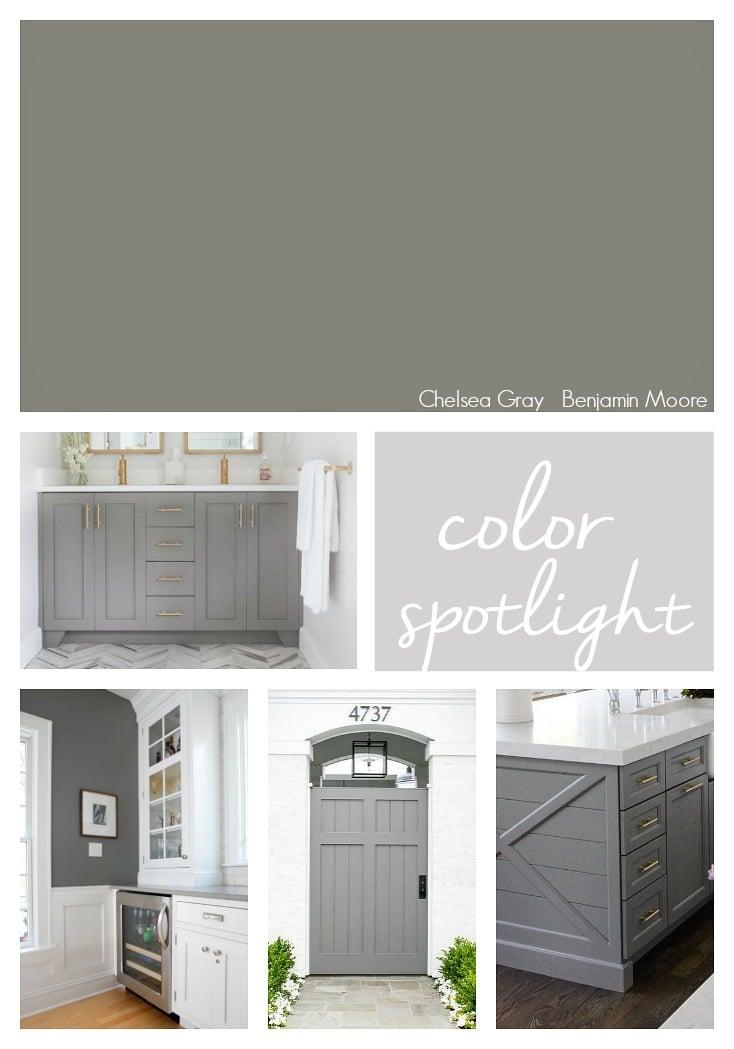 Chelsea Gray by Benjamin Moore. Color Spotlight