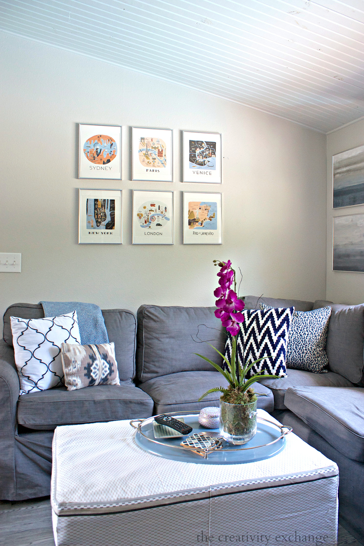 Create a gallery wall using art work from calendars