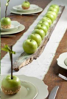 Fall apple centerpiece