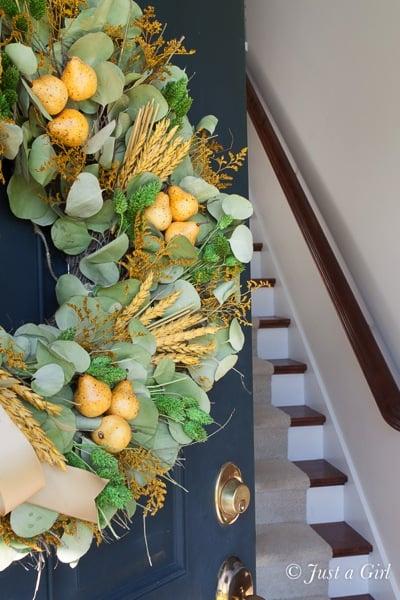 Fall pear wreath