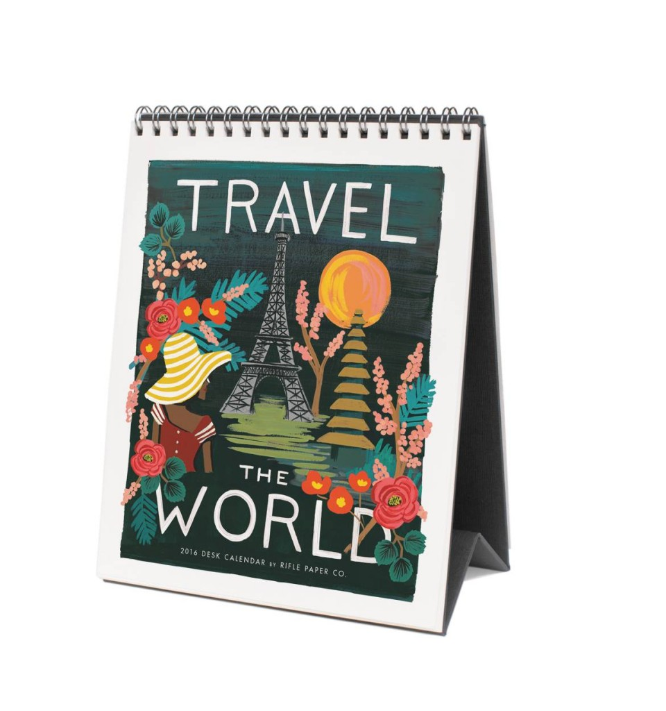 2016 Rifle Paper Company Travel the World Calendar.