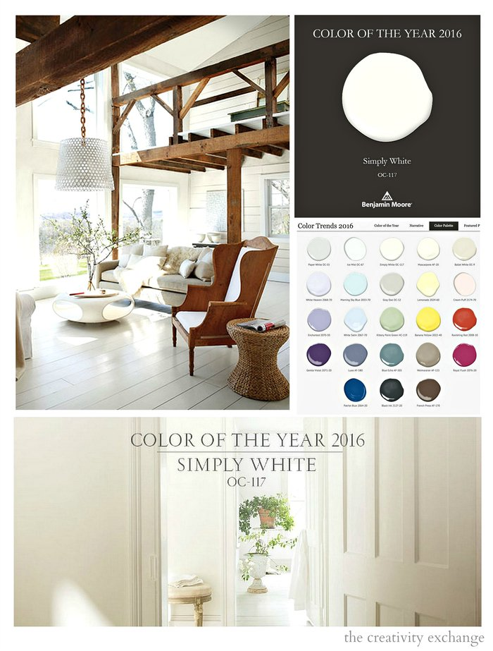 2016 benjamin moore color of the year simply white for Color of the year 2016