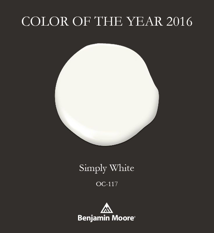 2016 benjamin moore color of the year simply white Paint color of the year