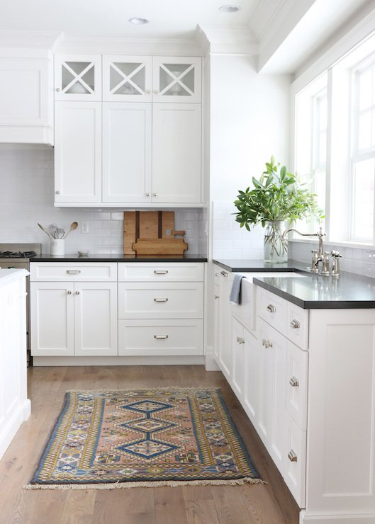 Cabinet color is Simply White from Benjamin Moore. Shea McGee