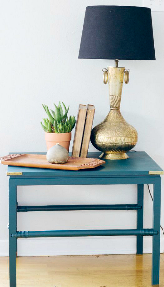 Console painted in Benjamin Moore Bavarian Forest