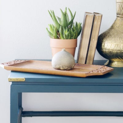 Craigslist Console Instantly Transformed with Paint {Claire Brody Designs}