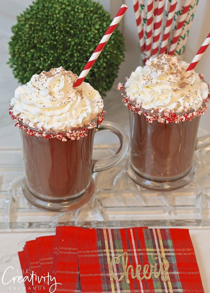 Favorite Holiday Cocktail Hot Chocolate Peppermint Patty