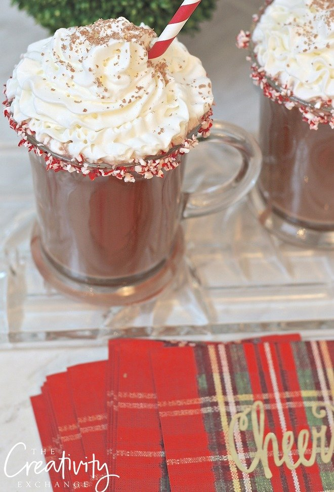 Peppermint Patty Hot Cocoa Cocktail. The Creativity Exchange