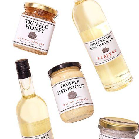 Set of truffle oil, mayonnaise, salt, etc.. Oprah's favorite things