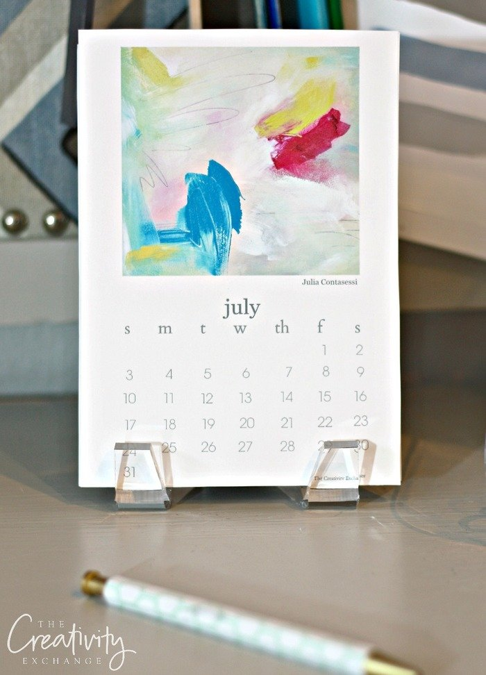 2016 Free Printable Calendar Artist Collaboration.