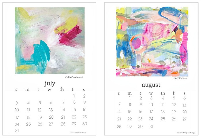 Art Calendar : Planners to help with staying on track