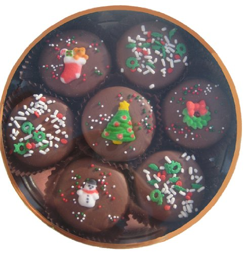 Most popular Christmas cookie on Amazon are these Chocolate Dipped Christmas Oreos