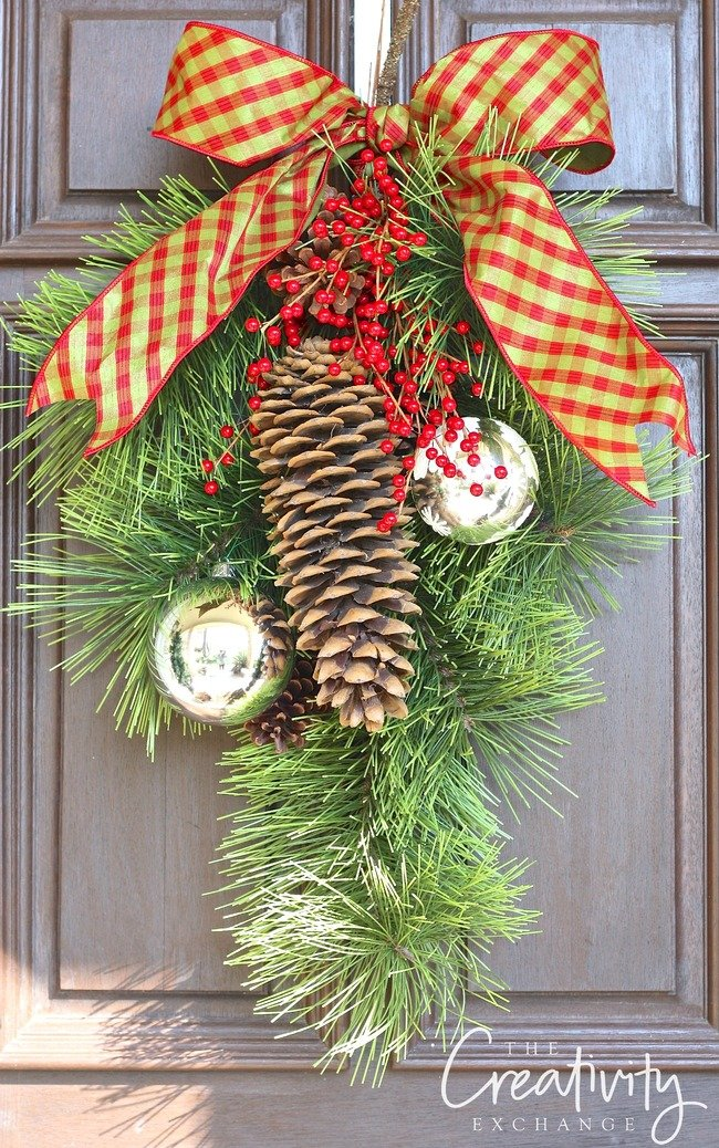 Easy diy christmas wreaths for around the home