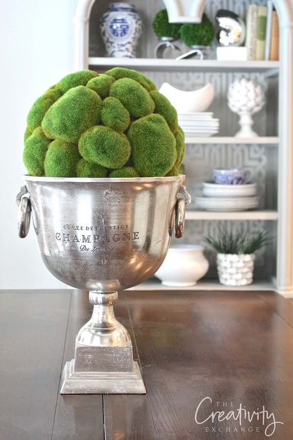 Creative ways to decorate with champagne buckets.