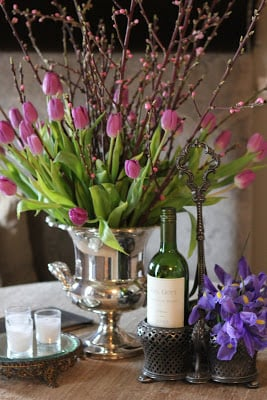 Creative ways to decorate with pretty champagne buckets.